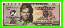 BILLETS , ONE MILLION DOLLARS -  PATRICK SWAYZE - UNITED STATES OF AMERICA - - Etats-Unis