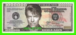 BILLETS , ONE MILLION DOLLARS -  DAVID BOWIE - UNITED STATES OF AMERICA - - Etats-Unis