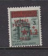 Venezia Giulia And Istria 1945 Yugoslav Trieste Occupation S8  2 Lira On 3 Lira Green Mint Never Hinged - Occ. Yougoslave: Trieste