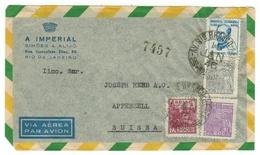 Brésil // Lettre Pour La Suisse 1946 - Lettres & Documents