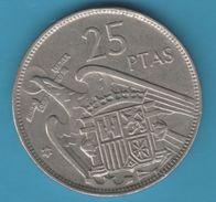 ESPANA 25 PESETAS 1957 (59) KM# 787 FRANCO - 25 Pesetas