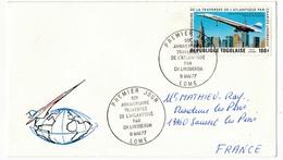 TOGO  => Enveloppe FDC - 50eme Anniversaire Traversée De L'Atlantique Par Lindberg - Lome 1977 (thème Concorde) - Concorde