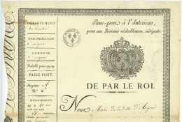 PASSEPORT – Avignon 1819 - Prisons D'Avignon Comte De Cambis Isolabona Orgon Lambesc Aix Lavalette - Documents Historiques