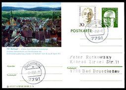81374) BRD - P 112 - B12/165 - OO Gestempelt - 7210 Rottweil, Ortsansicht - BRD