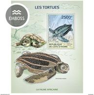 IVORY COAST 2014 SHEET TURTLES TORTUES TARTARUGAS TORTUGAS TARTARUGHE SCHILDKROTEN REPTILES MARINE LIFE Ic14121b - Côte D'Ivoire (1960-...)
