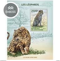 IVORY COAST 2014 SHEET LEOPARDS LEOPARDOS WILD CATS FELINS FELINES FELINOS WILDLIFE Ic14115b - Côte D'Ivoire (1960-...)