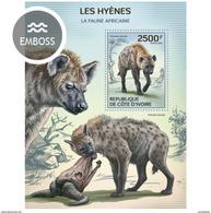 IVORY COAST 2014 SHEET HYENES HYENAS HIENAS WILDLIFE Ic14114b - Côte D'Ivoire (1960-...)