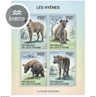 IVORY COAST 2014 SHEET HYENES HYENAS HIENAS WILDLIFE Ic14114a - Côte D'Ivoire (1960-...)