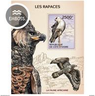IVORY COAST 2014 SHEET RAPACES BIRDS OF PREY AVES DE PRESA Ic14112b - Côte D'Ivoire (1960-...)