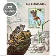 IVORY COAST 2014 SHEET GRENOUILLES RANAS FROGS RANE AMPHIBIANS ANFIBIOS RAS Ic14111b - Côte D'Ivoire (1960-...)