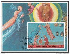 Umm Al Qiwain 1972 Dante Alighieri Divina Commedia Paradiso Miniatura Illustrazione - Scrittori