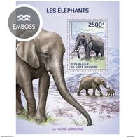 IVORY COAST 2014 SHEET ELEPHANTS ELEFANTES ELEFANTI ELEFANTEN Ic14108b - Côte D'Ivoire (1960-...)