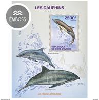 IVORY COAST 2014 SHEET DAUPHINS DOLPHINS DELFINES DELFINI GOLFINHOS DELPHINEN MARINE LIFE Ic14107b - Côte D'Ivoire (1960-...)