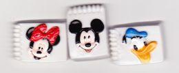 3 Fèves Croquis Disney Donald Minnie Mickey - Disney