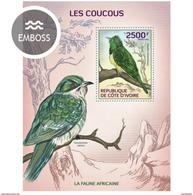 IVORY COAST 2014 SHEET COUCOUS CUCKOOS BIRDS PAJAROS Ic14105b - Côte D'Ivoire (1960-...)