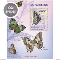 IVORY COAST 2014 SHEET BUTTERFLIES PAPILLONS SCHMETTERLINGEN BORBOLETAS FARFALLE MARIPOSAS INSECTS Ic14104b - Côte D'Ivoire (1960-...)
