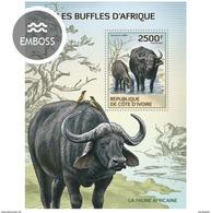 IVORY COAST 2014 SHEET BUFFALOES BUFFALOS BUFALOS BUFALE WILDLIFE Ic14101b - Côte D'Ivoire (1960-...)