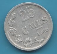 LETZEBURG 25 CENTIMES 1960 KM# 45a2 (Frappe MÉDAILLE) RARE - Luxembourg