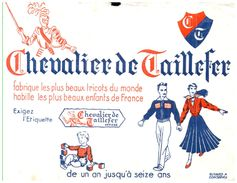 """Tr C T/Buvard    Tricots """"Chevalier De Taillefer"""" (N= 1) - T"""