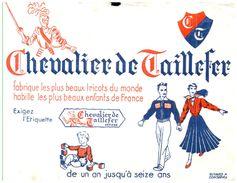 """Tr C T/Buvard    Tricots """"Chevalier De Taillefer"""" (N= 1) - Buvards, Protège-cahiers Illustrés"""