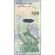 TWN - BERMUDA 60a - 20 Dollars 1.1.2009 Hybrid - Low Serial 000XXX - Onion Prefix UNC - Bermudas