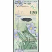 TWN - BERMUDA 60a - 20 Dollars 1.1.2009 Hybrid - Low Serial 000XXX - Onion Prefix UNC - Bermudes