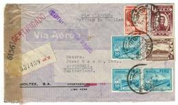 Pérou // Lettre Censurée Pour La Suisse - Pérou