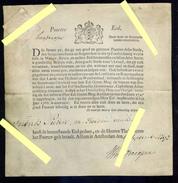 1792 Pays Bas Parchemin Timbré D'époque : Serment Prononcé Pour être Accepté Comme Bourgeois D'Amsterdam, Voir Traductio - Documents Historiques