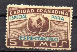 Viñeta  Nº 60  Por Detras Matasellos (Nacional)  Granada. - Verschlussmarken Bürgerkrieg