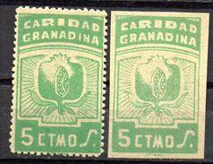 Viñetas  Nº 61/61s   Caridad  Granada. - Verschlussmarken Bürgerkrieg