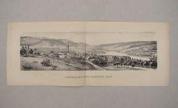 PANORAMA DES BRENETS 1889 - Les Brenets - Neuchâtel - SUISSE - Vieux Papiers