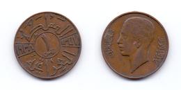 Iraq 1 Fils 1938 King Ghazi I - Iraq