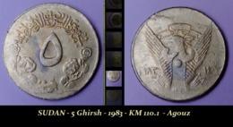 SUDAN - 5 Ghirsh - 1983 - KM 110.1  - Agouz - Soudan