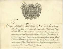 HISTOIRE POSTALE - DUC DE CHOISEUL (1719-1785) Surintendant Des POSTES Versailles 1769 + Paradis De Moncrif  Nonancourt - Postmark Collection (Covers)