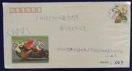 MortorGP Motorcycle Racing,Motorbike,China 2001 Post Advertising Postal Stationery Envelope - Moto