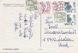 6 Fach Frankierung Auf Ak JEZERCICA Gel.n. Leoben - 1945-1992 Sozialistische Föderative Republik Jugoslawien