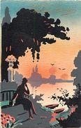 Themes Div -ref T919- Illustrateurs - Illustrateur - Aquarelle - Silhouettes -silhouette  - Carte Bon Etat - - Illustrateurs & Photographes
