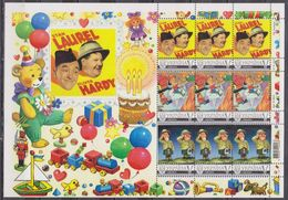 CINEMA / LAUREL + HARDY  PERSONALIZED SHEETLET ** (mnh) (special Price To Clear Stock) - Cinéma