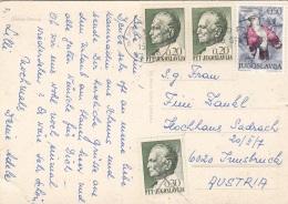 4 Fach Frankierung Auf Ak FIESA PACUG - 1945-1992 Sozialistische Föderative Republik Jugoslawien