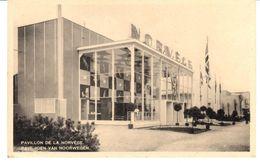 POSTAL   - BRUSELAS  - BELGICA  - EXPOSICION INTERNACIONAL DE BRUSELAS AÑO 1935- PABELLON DE NORUEGA - Exposiciones Universales