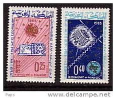 MAROC-1965.N° 484/485** TELECOMMUNICATIONS - Marokko (1956-...)