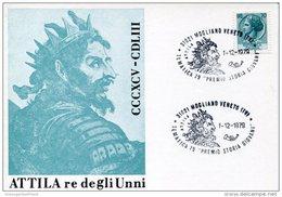 21678 Italia,special Postmark Mogliano 1979,attila,etzel,atli,etel,etele, Attila The Hun,hunnic Empire Empire Hunnique - Andere