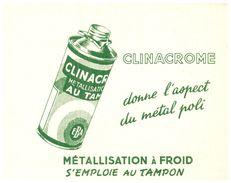 "(D 9)   Buvard  Métalisation A Froid ""Clinachrome"" (Format 12 X 15.5) - Blotters"