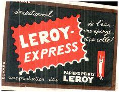 P P P/Buvard Papiers Peints Leroy-Express  (N= 1) - Buvards, Protège-cahiers Illustrés
