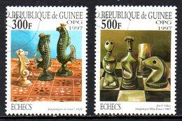 GUINEE. 2 Timbres Oblitérés De 1997. Echecs/Hippocampe. - Schach