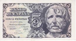 BILLETE DE 5 PTAS DEL AÑO 1947 DE SENECA SIN SERIE Y  SIN CIRCULAR - UNCIRCULATED   (BANKNOTE) - [ 3] 1936-1975 : Régence De Franco