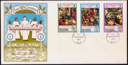 NEW HEBRIDES 1976 SG 214-16 Compl.set On FDC Christmas - FDC