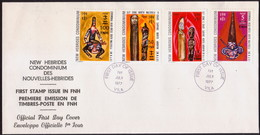 NEW HEBRIDES 1977 SG 220, 222, 228, 230 On FDC Currency Change - FDC