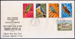 NEW HEBRIDES 1977 SG 221, 223, 226, 229, 232 On FDC Currency Change - FDC