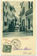 """R.541.  Saluti Da UDINE - Ponte S. Cristoforo - """"La Muele Mate"""" - 1904 - Udine"""